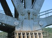 image of gusset  - closeup of the support structure on a bridge