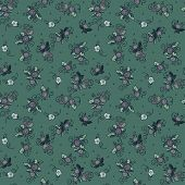 vintage textile flowers seamless pattern