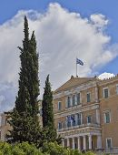 Athens the Greek parliament (ex king's palace)
