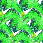 Abstract Green Seamless Pattern With Stripes In Vintage Style