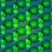 Seamless Pattern Of  Green Small Geometric Shapes