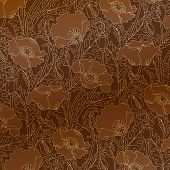 picture of art nouveau  - Floral ornamental background in art nouveau style - JPG