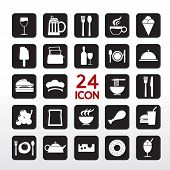 Food And Beverage Icon Set.