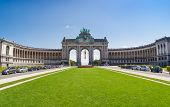 The Triumphal Arch or Arc de Triomphe in Brussels, Belgium