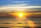 Sea beach amazing sunset.