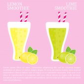 Fruit smoothie - lemon and lime smoothies.