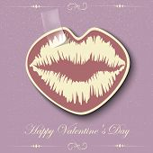 Paper Hearts Lips kiss sticker