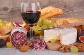 wine,salami and cheese