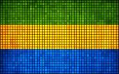 Abstract Mosaic Flag of Gabon