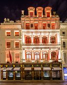 London, England - 13 November 2014 Cartier Shop on New Bond Street decorated for Christmas