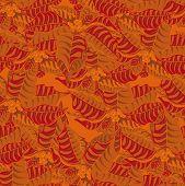 image of poinsettias  - Seamless mottled background - JPG