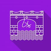 Flat line vector icon for rope jumping