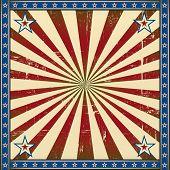 Retro square patriotic background