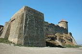 Old Akkerman Fortress With Cannon Balls Embedded To The Wall ,ukraine