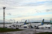 Passenger Planes At The Airport Boryspil, Kiev