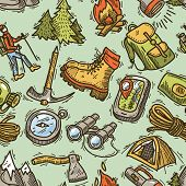 hike seamless pattern