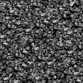 Seamless black coal background.