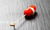 cherry tomato with mozzarella