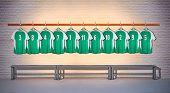 Row of Green  Football Shirts 3-5