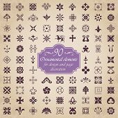 Vector set of 90 ornamental elements