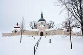 Pilgrimage Church Of Saint John Of Nepomuk At Zelena Hora In Winter, Zdar Nad Sazavou, Czech Republi