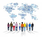 Global Business World Commercial Business People Concept
