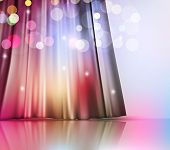magic vector background with theatre curtain and blur