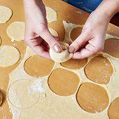 Sculpting Of Meat Dumplings