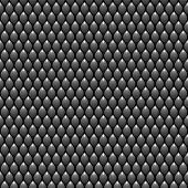 Black Scales Seamless Pattern Texture. Stock Vector Illustration