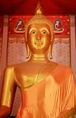 Buddha Statue Is Gold And Big Of Faith