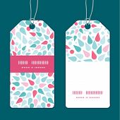 Vector abstract colorful drops vertical stripe frame pattern tags set