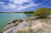 Alcaniz Lake in Teruel, Aragon, Spain.
