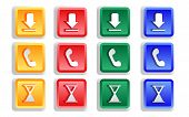 Colored Sign Button Set