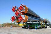 Progress Rocket At Baikonur Cosmodrome