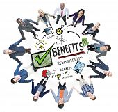 Benefits Gain Profit Earning Income Business Support Concept
