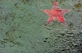 picture of iron star  - Close up of russian red star painted on t34 tank turret - JPG