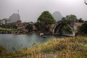 picture of raft  - Yangshuo Guangxi China  - JPG