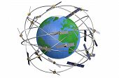 picture of orbital  - space satellites in eccentric orbits around the Earth - JPG