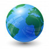 picture of atlantic ocean  - planet earth map  - JPG