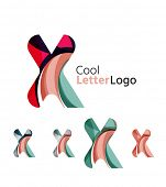 foto of letter x  - Set of abstract X letter company logos - JPG