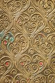 pic of carving  - Close up Thai style wood carving texture and background - JPG