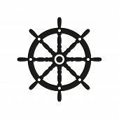 picture of steers  - The ship steering wheel icon - JPG
