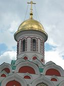 stock photo of cupola  - image of cupola of church with crosses - JPG