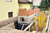 picture of rebuilt  - formwork for the concrete stariway in a family house add - JPG