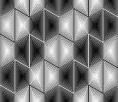 image of hexagon  - Design seamless monochrome hexagon geometric pattern - JPG