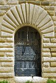 picture of bannister  - Detail stone staircase in the courtyard of the Swabian castle of Gioia del Colle  - JPG