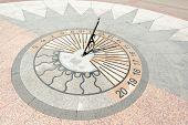 stock photo of sevastopol  - Granite sun clock on Primorsky Quay in Sevastopol - JPG