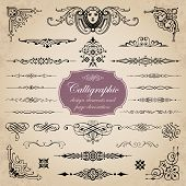 picture of embellish  - Vector set of calligraphic elements for page decoration  - JPG
