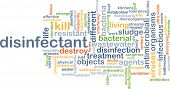 foto of wastewater  - Background concept wordcloud illustration of disinfectant - JPG