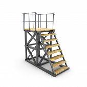 stock photo of stairway  - Stairways the ramp isolated on white background - JPG